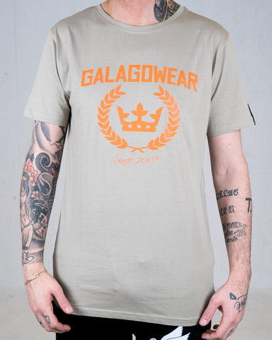 Logo tee - Green/Orange