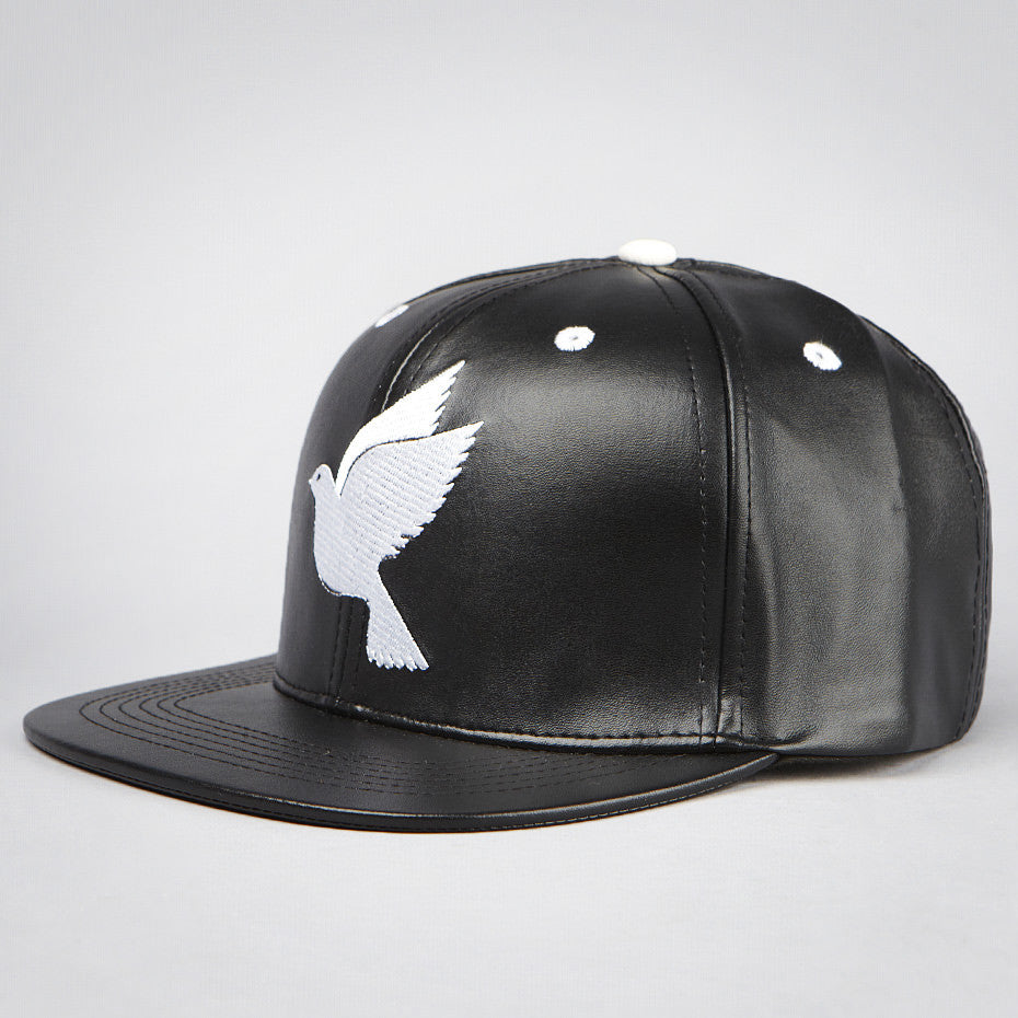 Snapback - leather/white