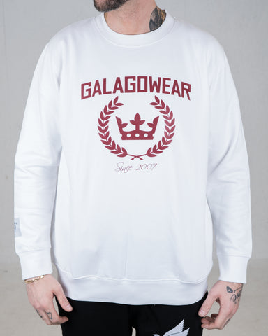Logo sweatshirt - white/burgundy