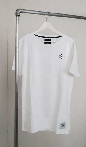 Patch tee - white