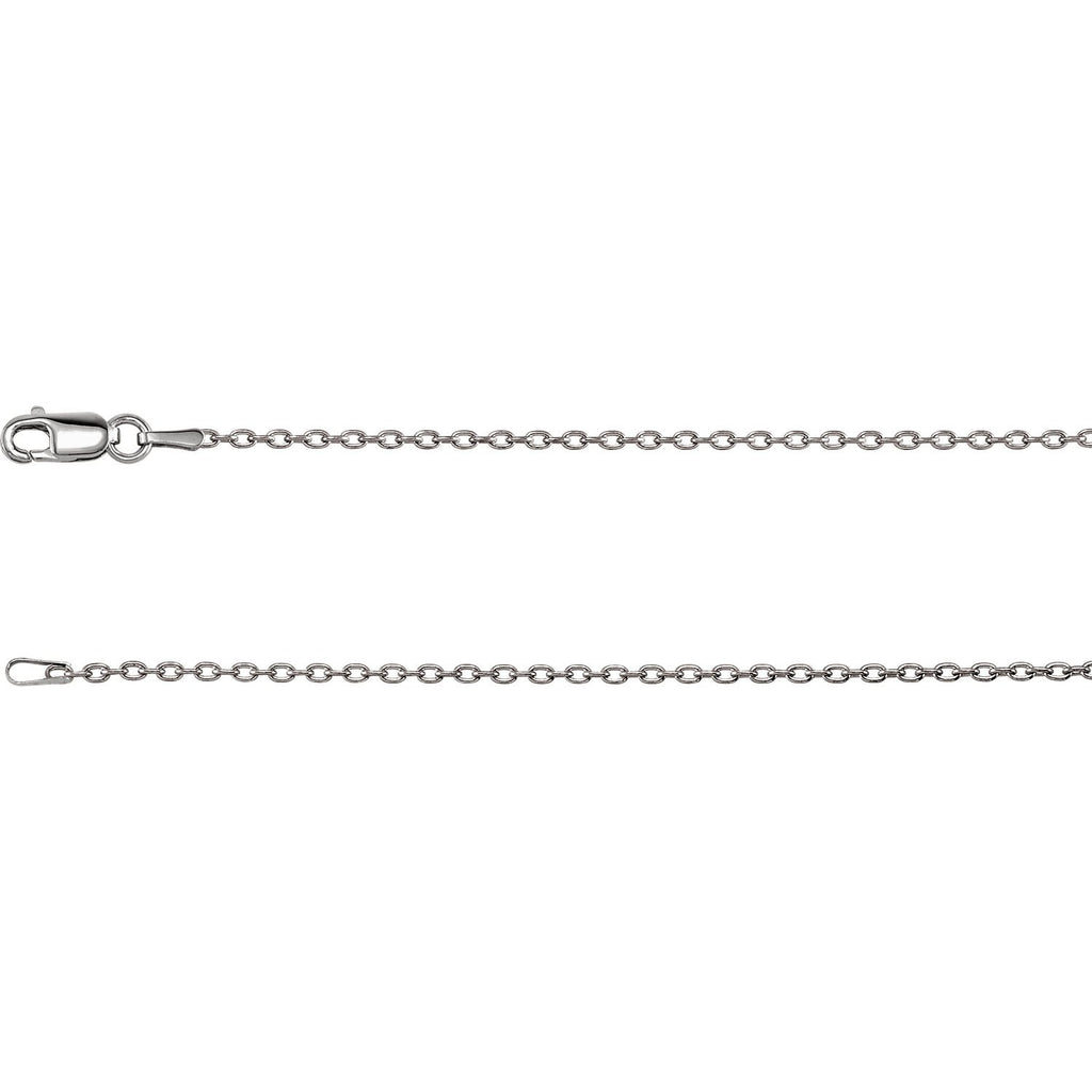 14kt yellow 1.5mm solid cable chain
