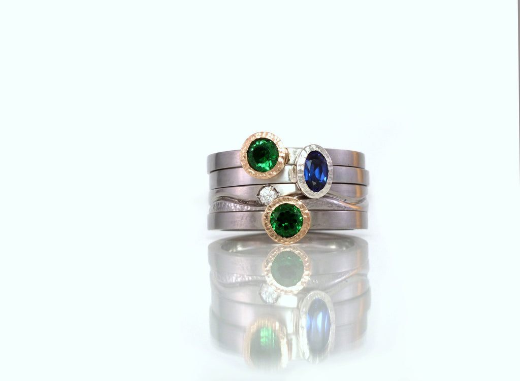 Custom gold, platinum, diamond, precious gemstone and pearl rings by ZEALmetal, Nicole Horlor, Kingston, ON, Canada