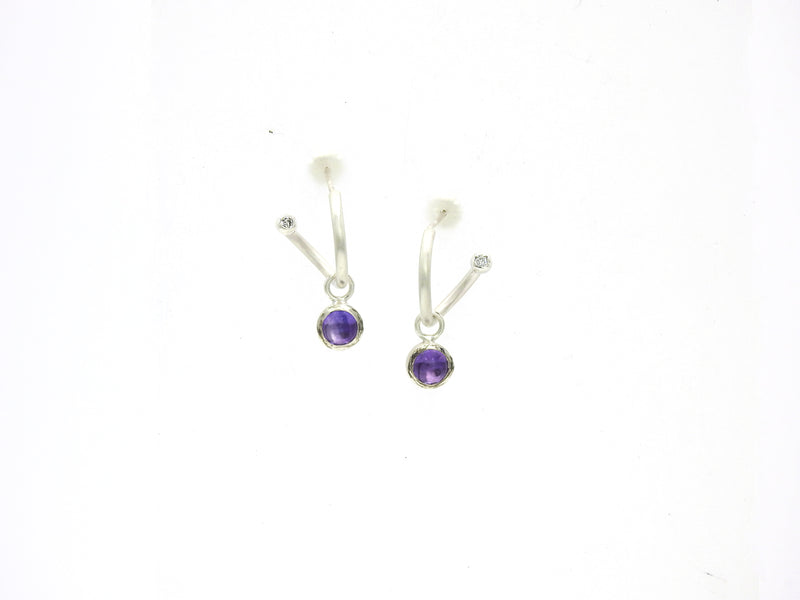 B E Sparkle with amethyst dangles
