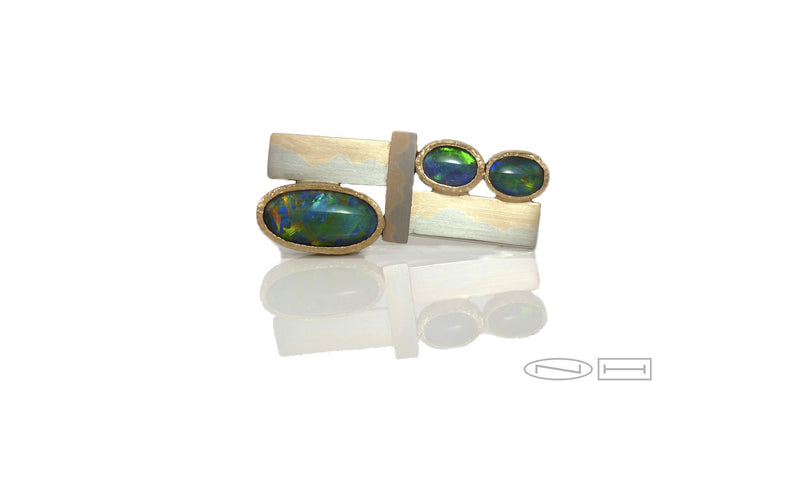 Black opal broach