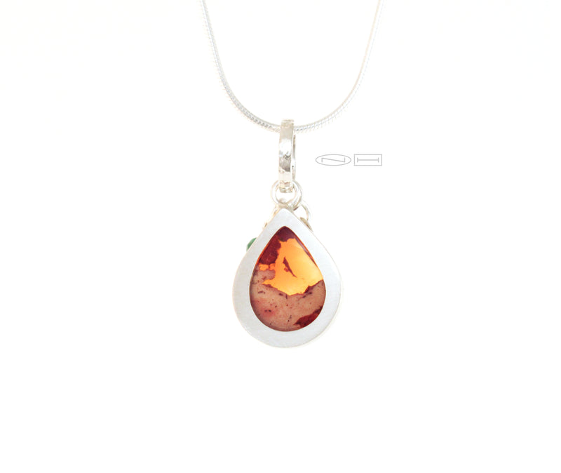 Fire Opal with a touch of emerald power ( SOLD)
