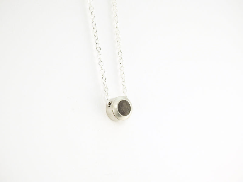Handcrafted jewellery with Kingston limestone by ZEALmetal, Nicole Horlor, Kingston, ON, Canada