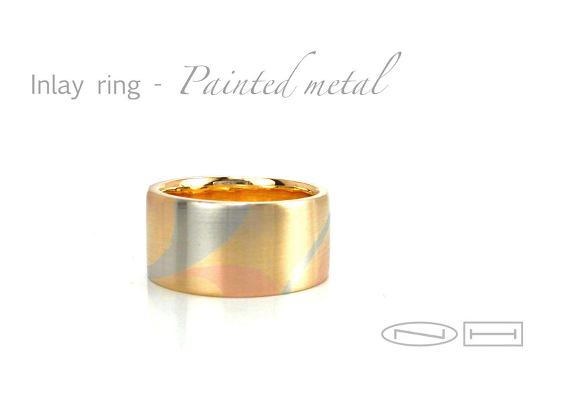 Marriage of metal 18kt yellow, white and red gold, by ZEALmetal., Nicole Horlor, in Kingston, ON, Canada