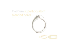 Custom blended bezel superfit hinged shank