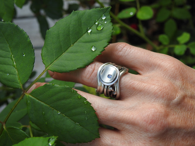 Handmade, silver jewellery, and Custom gold, platinum, diamond, precious gemstone and pearl rings by ZEALmetal, Nicole Horlor, Kingston, ON, Canada
