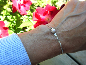 Handmade pearl bracelet by ZEALmetal, Nicole Horlor, Kingston, ON, Canada  Edit alt text