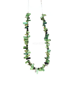Line ~ tourmaline and sterling silver line beads