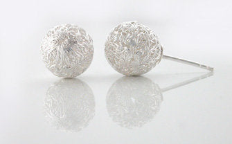 Crocheted ball stud