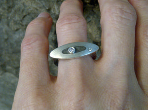 Limestone city diamond ring