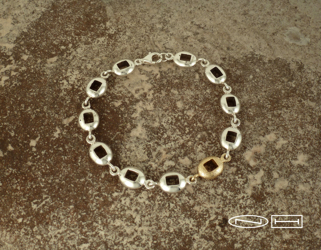 Handmade bracelet by ZEALmetal, Nicole Horlor, in Kingston, ON, Canada