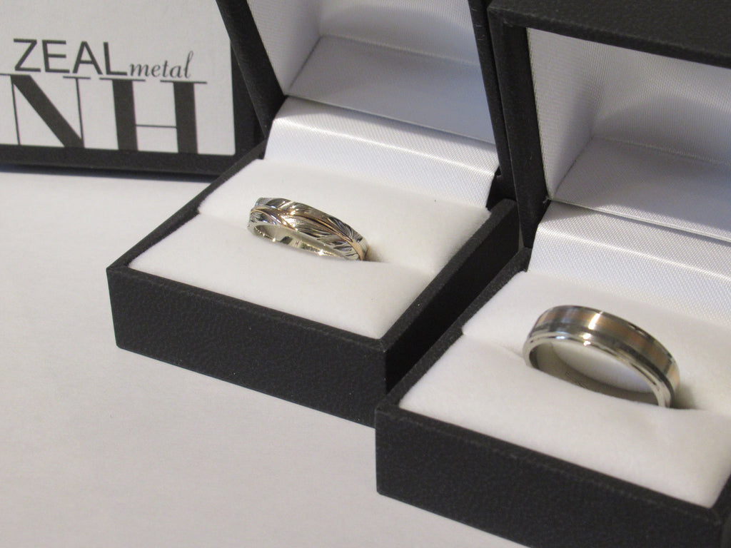 Handmade wedding and engagement ring by ZEALmetal in Kingston, ON Canada