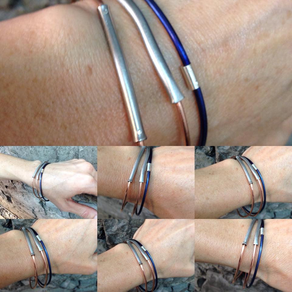 Thin stacker bangles