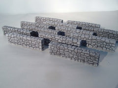 6pc Fieldstone Wall Set