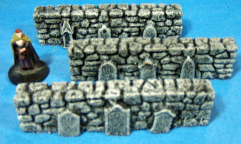 Gravestone Walls 3pc