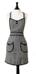 Woven Houndstooth Audrey Apron