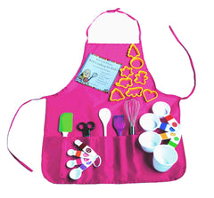 Playful Chef Baking Set with Pink Apron