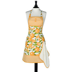 Summer Oranges Gigi Apron with Terry Towel