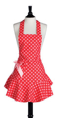 Red & Pink Polka Dot Josephine Apron