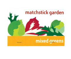 Mixed Greens Matchstick Garden