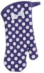 Purple & White Polka Dot Oven Mitt