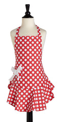 Children's Red & White Polka Dot Josephine Apron