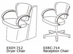 Custom Express EXDY-712 Libra Dryer Chair by Takara Belmont