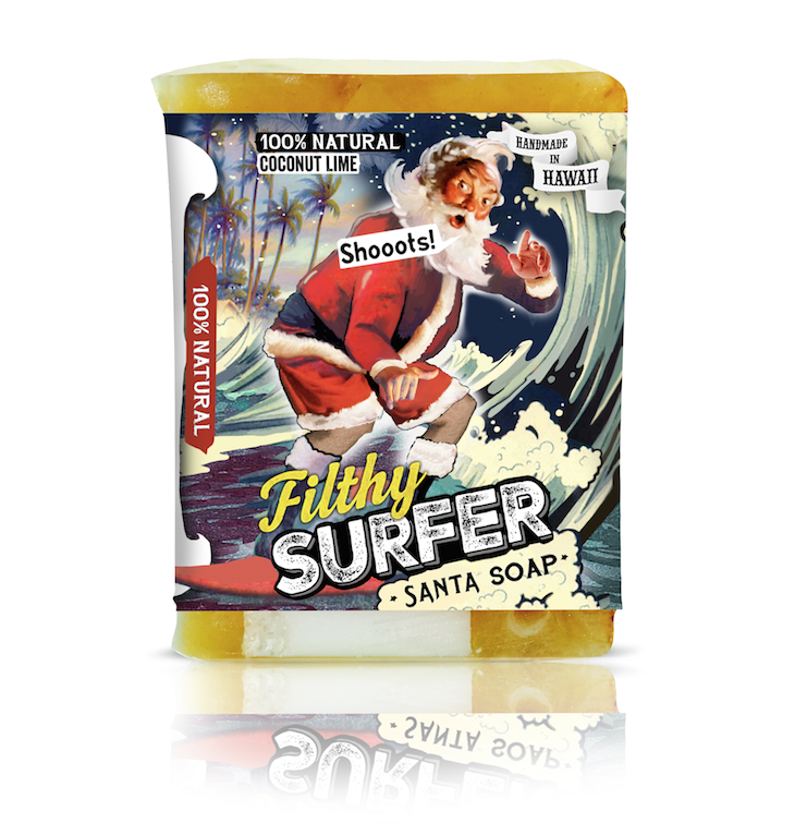 Filthy Santa Surfer Soap