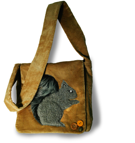 Corduroy Squirrel Bag