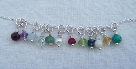 Birthstones in Silver or Gold