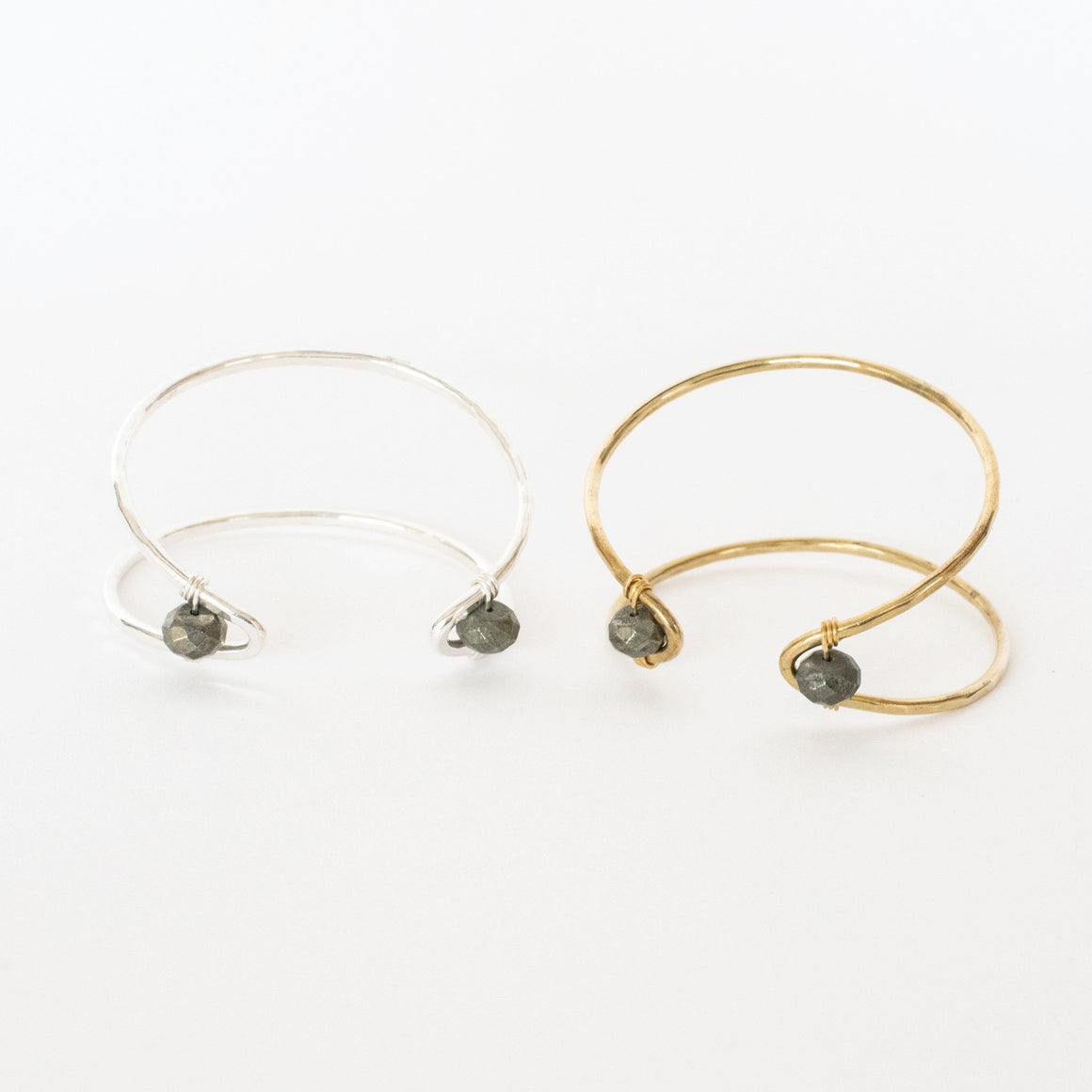 Marquise Cuff Bracelet with Pyrite Accent