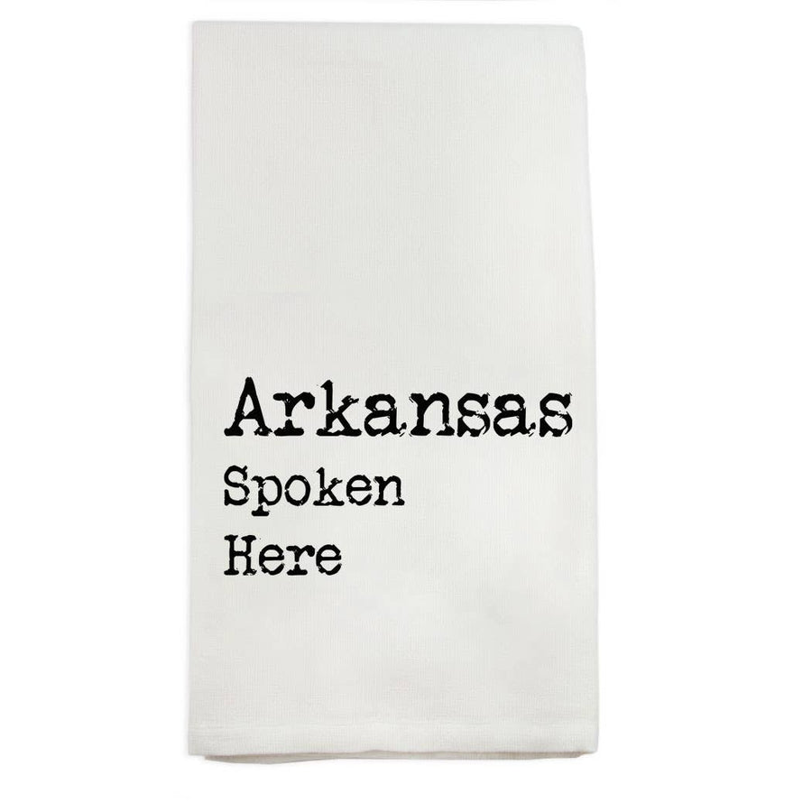 Arkansas Spoken Here Dishtowel