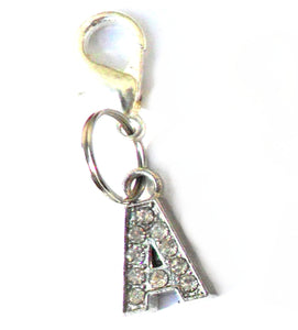 A-Z Crystal Letter Cat Charms - Clothes for Cats