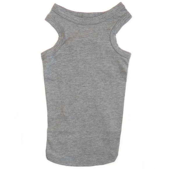Cat Vest Top - Grey Marl Cat Vests | Clothes for Cats