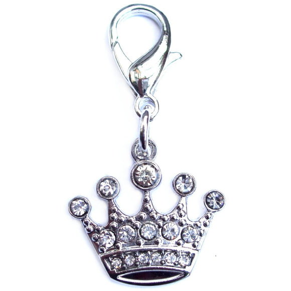 Crystal Crown Cat Charm - Clothes for Cats