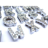 Silver Crystal Slider Letters - 10mm - Clothes for Cats