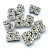 Silver Crystal Slider Letters - 10mm Cat Charms | Clothes for Cats