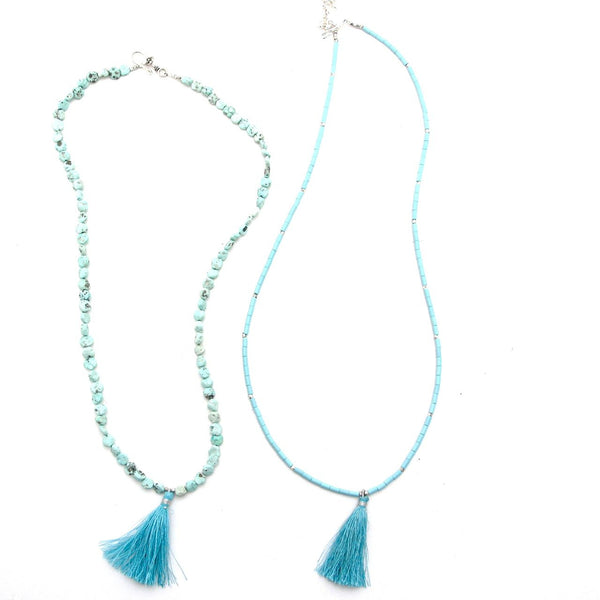 T is for Two Turquoise Tassels