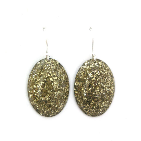 Elva Fields Gold Sparkle Earrings