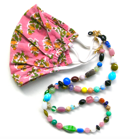 Fun Flair / 3-in-1 Chain - Indian Glass Beads