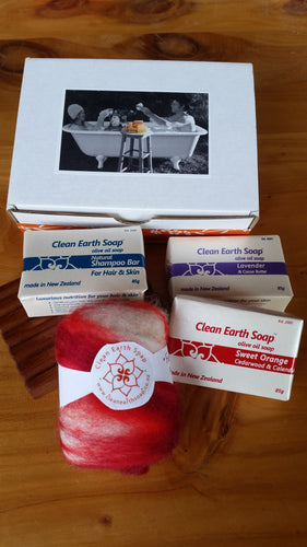 Clean Earth Soap Large Gift Box