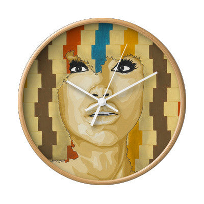 """Time's a Wastin"" Badu Wall Clock"