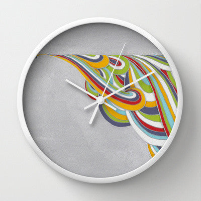 Silver Colors Bullet Wall Clock Art