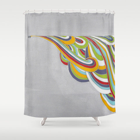 Silver Colorful Shower Curtain