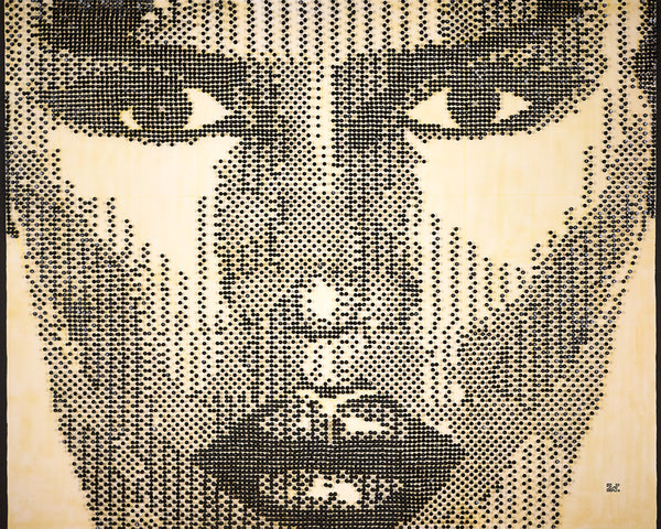 Grace Jones Pushpin portrait by visual artist Andre Woolery