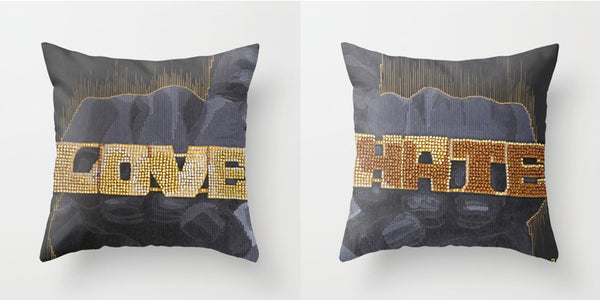 Radio Raheem influenced throw pillows to bless your couch. Blck Prism brings you Black art inspired lifestyle products.