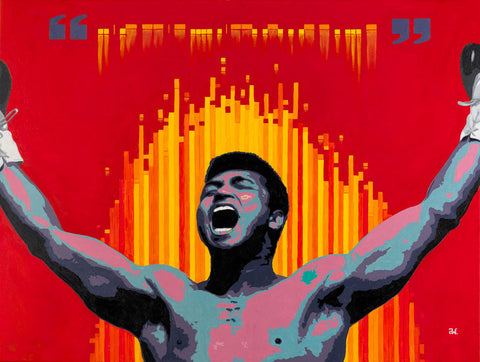 Ali Trust the Code Portrait Painting by Andre Woolery